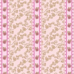 vintage rose ribbon (pink)