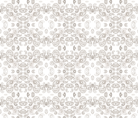 Doodles in Paisley fabric by hushaby&quirks on Spoonflower - custom fabric