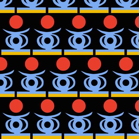 Blue Himba Headrests fabric by boris_thumbkin on Spoonflower - custom fabric