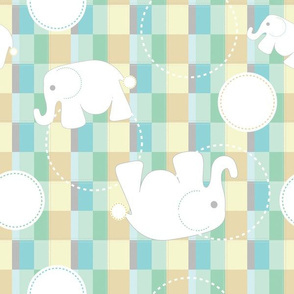 Tossed Elephants On Blocks
