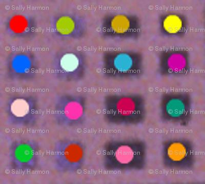 Tiny Dotty Rainbow Grid