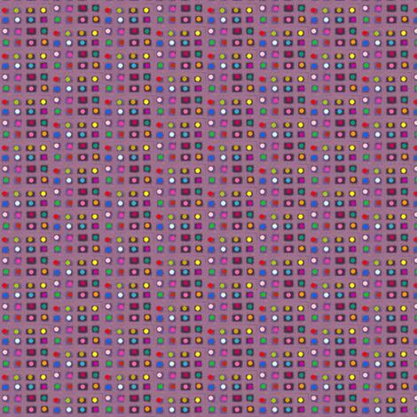 Tiny Dotty Rainbow Grid fabric by boris_thumbkin on Spoonflower - custom fabric