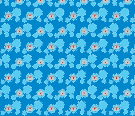 robots3 fabric by jennadcaldwell on Spoonflower - custom fabric