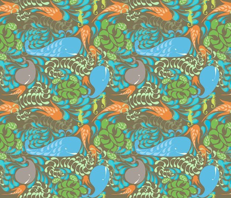 AQUARIUM in OTTER fabric by trcreative on Spoonflower - custom fabric