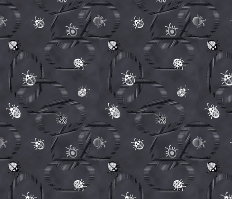 Buggeroo Bugs on Black fabric by colorcrazed on Spoonflower - custom fabric