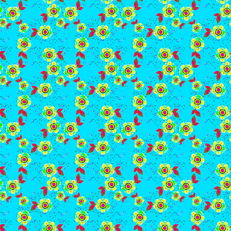 Joan's Cornflower Meadow fabric by joanmclemore on Spoonflower - custom fabric