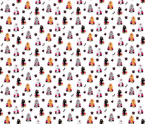 Poodles Retro Phone  fabric by greerdesign on Spoonflower - custom fabric