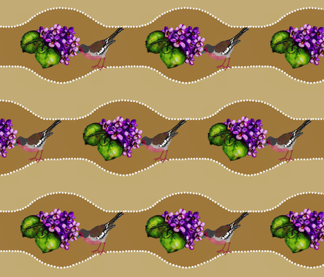 bird and violets fabric by paragonstudios on Spoonflower - custom fabric