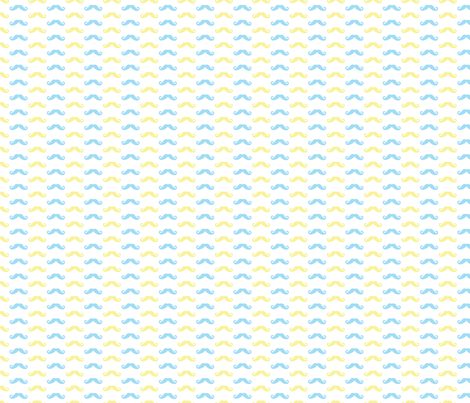 Baby boy mustaches fabric by isabelledebionne on Spoonflower - custom fabric