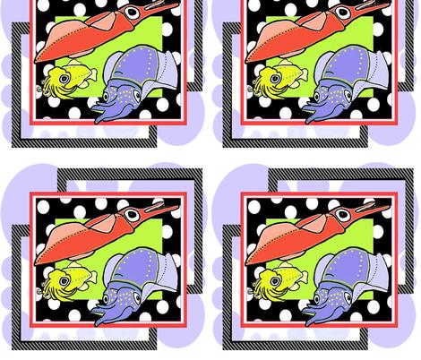 Squid Fun fabric by kaerushisho on Spoonflower - custom fabric