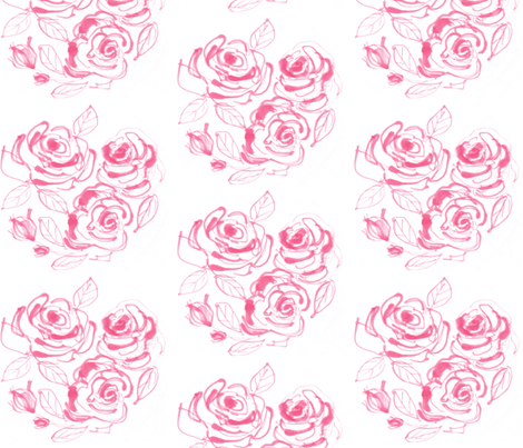 Honeysuckle Roses fabric by sewgertiesew on Spoonflower - custom fabric