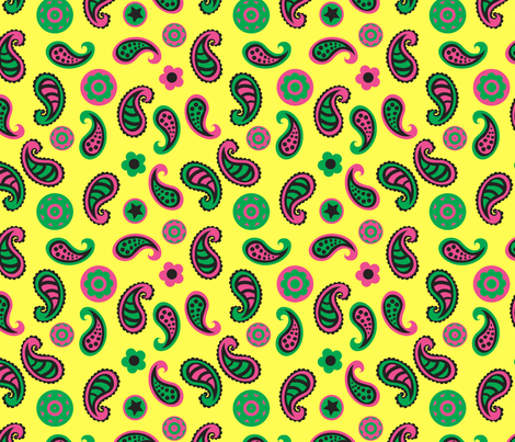Groovy Paisley fabric by pininkie on Spoonflower - custom fabric