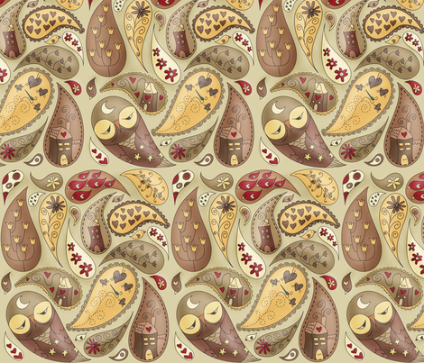 A paisley point of view of Her life fabric by catru on Spoonflower - custom fabric