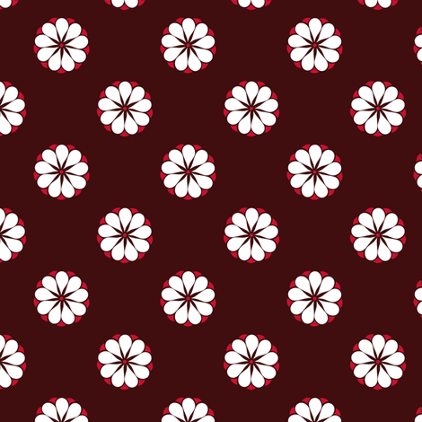 Flowers White Petals fabric by havemorecake on Spoonflower - custom fabric