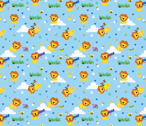 Lion - Baby Boy fabric by thickblackoutline on Spoonflower - custom fabric