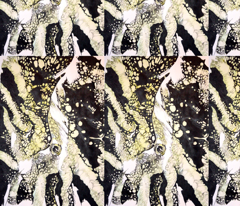Yellow Squid fabric by sem on Spoonflower - custom fabric