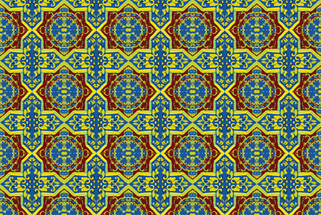 Tile Tale fabric by susaninparis on Spoonflower - custom fabric