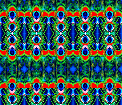 Peacock Feathers fabric by robin_rice on Spoonflower - custom fabric