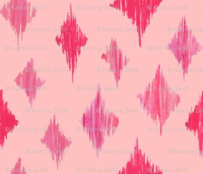 Ikat Diamonds - pink