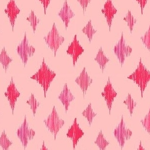 Ikat Diamonds - pink
