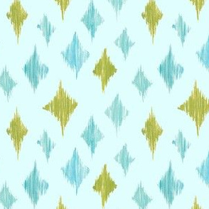 Ikat Diamonds - green