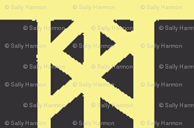 Chalkboard Grid Stripes
