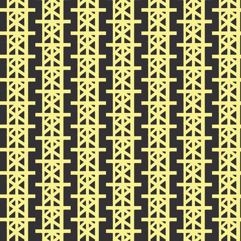Chalkboard Grid Stripes fabric by boris_thumbkin on Spoonflower - custom fabric