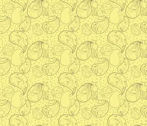 Animal Sounds Plain Paisley fabric by sparegus on Spoonflower - custom fabric