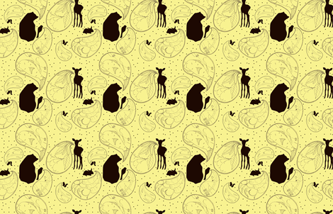 Animal Sounds Paisley fabric by sparegus on Spoonflower - custom fabric