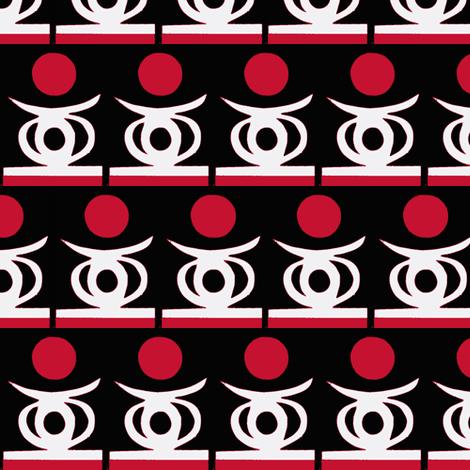Himba Headrest fabric by boris_thumbkin on Spoonflower - custom fabric