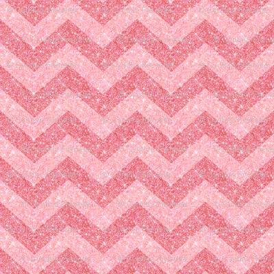 Glitter Chevron Pink on Pink