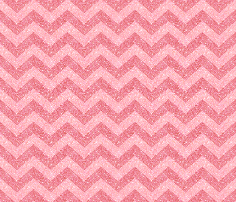 Glitter Chevron Pink on Pink fabric by cynthiafrenette on Spoonflower - custom fabric