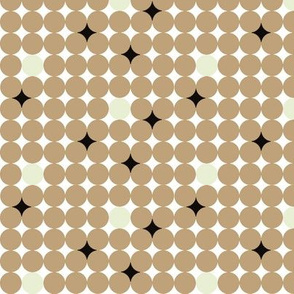 brown dots and in between