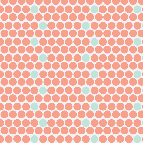 coral and clouds fabric by luluhoo on Spoonflower - custom fabric