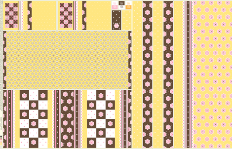 Checkerboard Tote - Banana - flexible kit plus bonus fabric by inscribed_here on Spoonflower - custom fabric