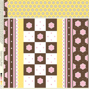 Checkerboard Tote - Banana - flexible kit plus bonus