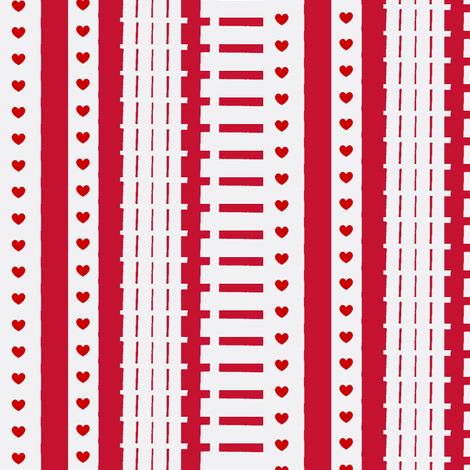 Valentine Tracks fabric by boris_thumbkin on Spoonflower - custom fabric