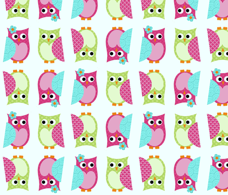 Whimsy Tots Owl Buddies fabric by chelsigilbert on Spoonflower - custom fabric