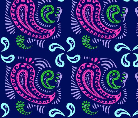 Cozy Paisley fabric by iloivar on Spoonflower - custom fabric