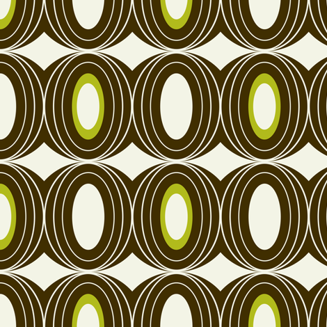 Chillout - Retro Geometric Midcentury Modern Brown fabric by heatherdutton on Spoonflower - custom fabric