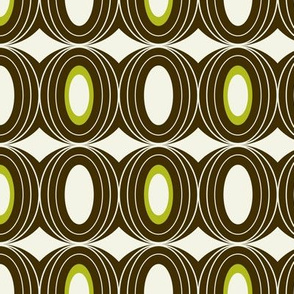 Chillout - Retro Geometric Midcentury Modern Brown
