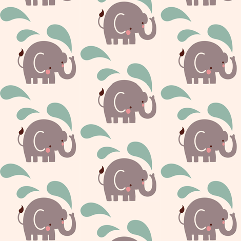 Paisley elephant repeat  fabric by bora on Spoonflower - custom fabric
