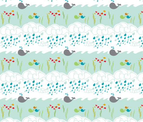 Whalesley fabric by mrshervi on Spoonflower - custom fabric