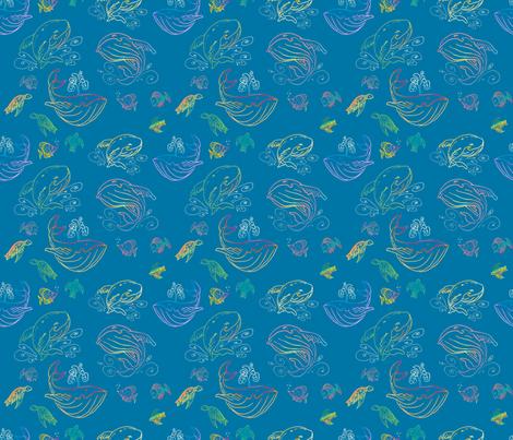 Paisley Sea fabric by whatsit on Spoonflower - custom fabric