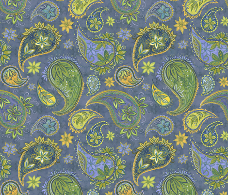 Pallavi_Paisley fabric by nicoletamarin on Spoonflower - custom fabric