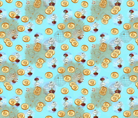 ©2011 Treasure map fabric by glimmericks on Spoonflower - custom fabric