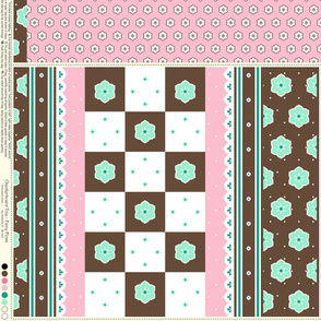 Checkerboard Tote - Fairy Floss - flexible kit plus bonus
