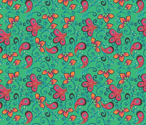 Paisley_dété fabric by missvautour_ on Spoonflower - custom fabric