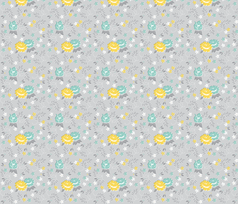 Granny Flowers fabric by tinornament on Spoonflower - custom fabric