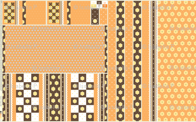 Checkerboard Tote - Orange - flexible kit plus bonus